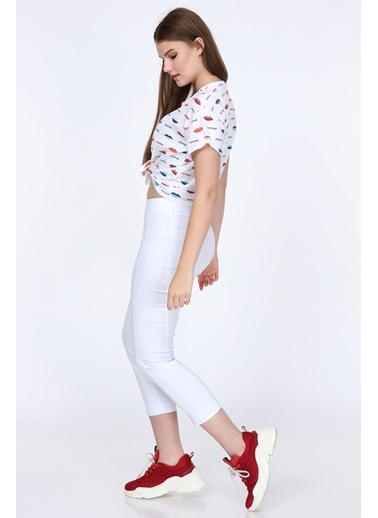Islander Pantolon Beyaz